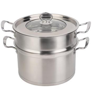 Wysokiej jakości 26CM ze stali nierdzewnej podwójna warstwa parowar Pot Stockpot naczynia domowe narzędzie do gotowania nowy tanie i dobre opinie Haofy CN (pochodzenie) Steamer Pot Części do parowaru