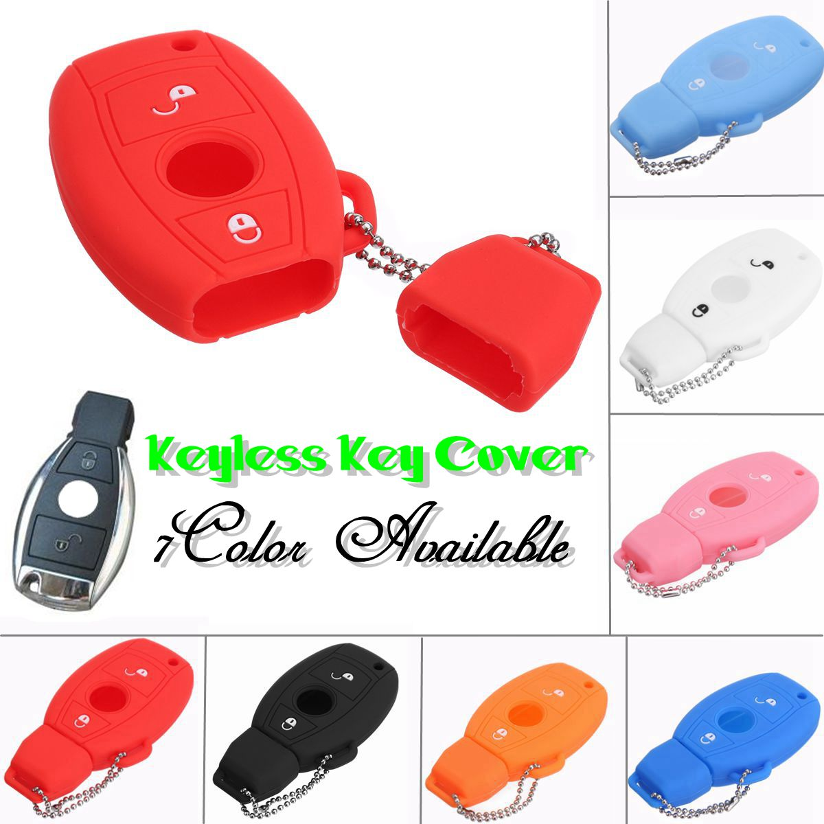 2 Buttons Silicone Car Remote Key Cover Case For Mercedes -Benz Classe A180 A200 A260