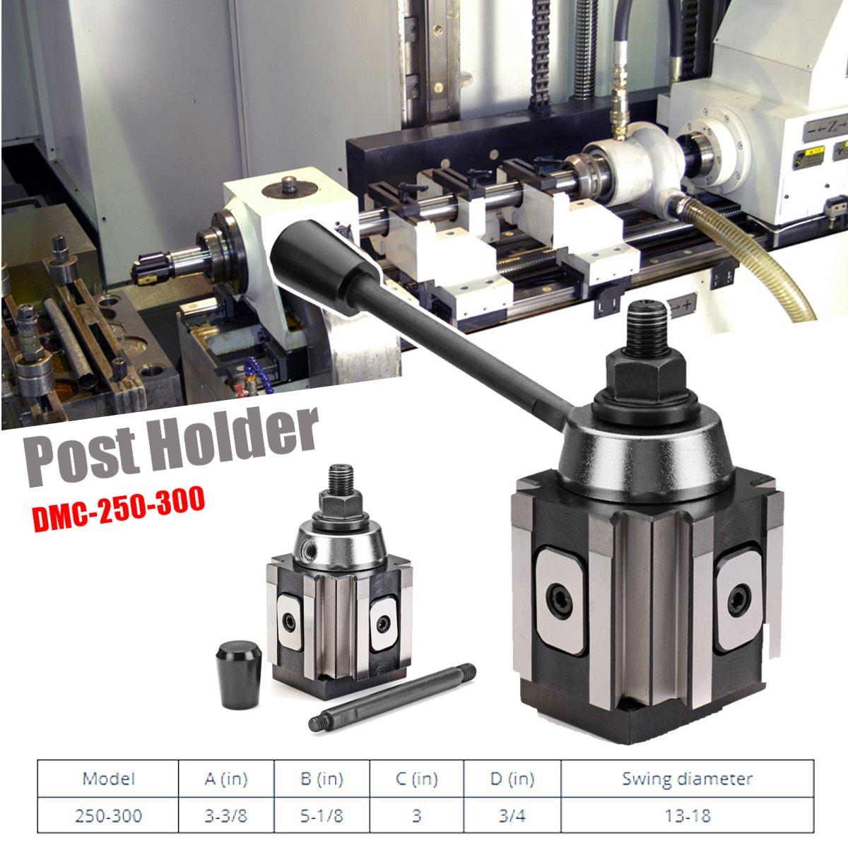 DMC-250-300 Piston Type Locking Tool Post Steel Quick Change Lathe Tool Holder New
