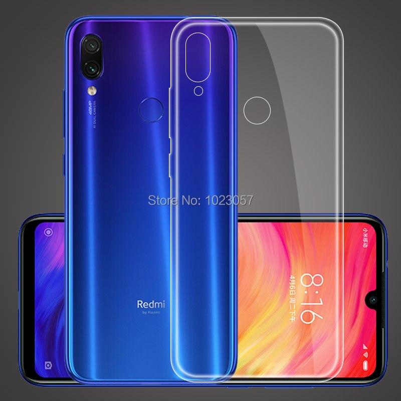 Case on Xiaomi Redmi Note 5 6 7 Pro Ultra Thin Clear Transparent Soft TPU Silicon Cover Case Xiaomi Redmi Note 5 6 7 Mi Play redmi note 7 pro cover