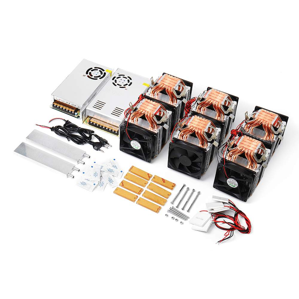 NEW High Power Quad-core Six Copper Tube Cooling Semiconductor Refrigeration Module DIY Kit Fish Tank Cooler With Power SupplyNEW High Power Quad-core Six Copper Tube Cooling Semiconductor Refrigeration Module DIY Kit Fish Tank Cooler With Power Supply