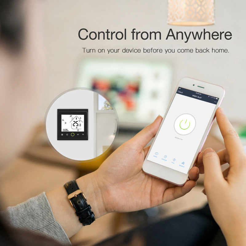 Contrôleur de température de Thermostat de climatiseur Central intelligent de WiFi de 4 tuyaux unité de ventilo-convecteur de 3 vitesses fonctionnant avec Alexa Google Home