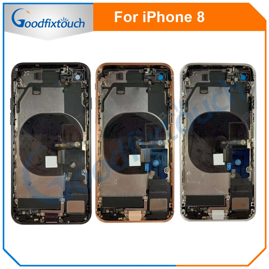 For IPhone 8 Back Cover Battery Door Housing Rear Cover Assembly Battery Housing For IPhone 8G With Flex Cable Replacement Parts