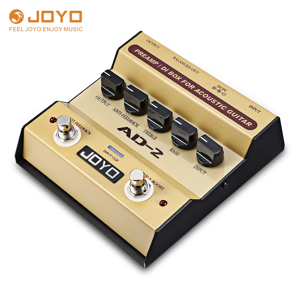 joyo ad 2 electric guitar pedal preamp di box effect pedal with basic tone control function for. Black Bedroom Furniture Sets. Home Design Ideas