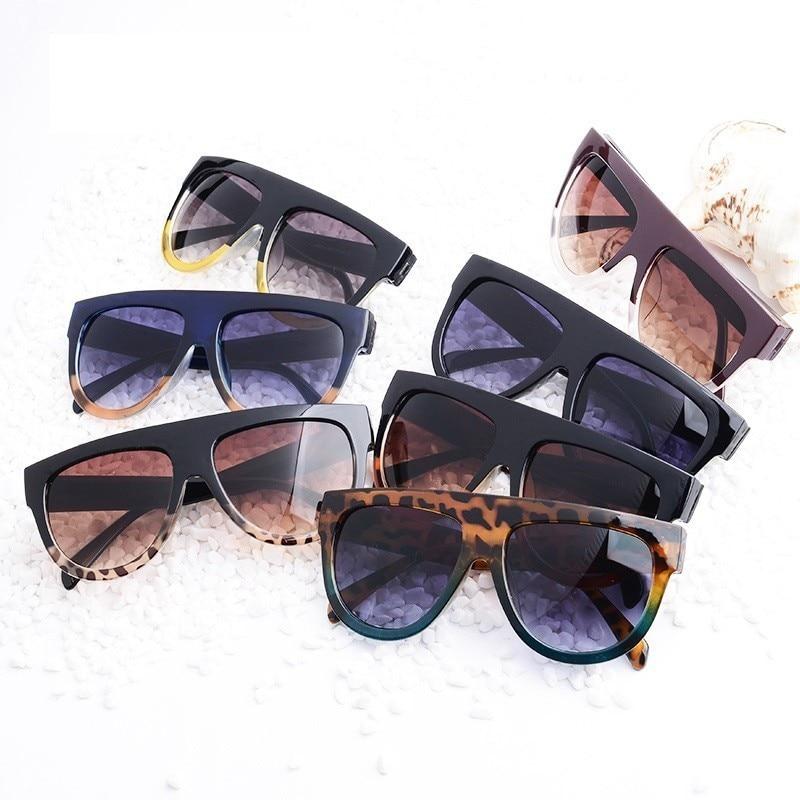Flat Top Oversized Square Sunglasses Women Gradient 2019 Summer Style Classic Women Sun Glasses Female Big Square Eyewear UV400