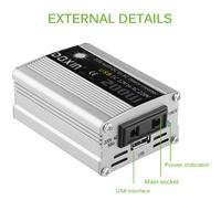 AOZBZ 12 v DC Para AC 220 v 200 w Car Auto Power Adapter Converter Inverter Adaptador USB Car Charger estilo do carro|Inversores automotivos| |  -