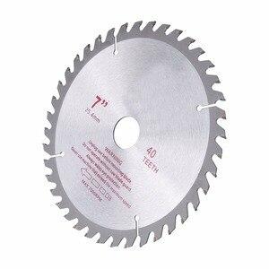 Image 5 - 4/7 סנטימטרים 40T שיניים ביצרו קרביד מסור עגול להב עץ חיתוך כלי נשא קוטר 20mm/ 25.4mm עץ חיתוך כוח כלים