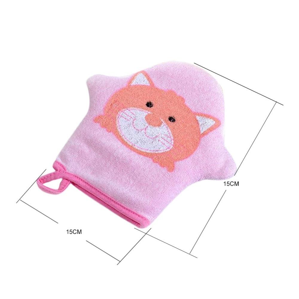 Купить с кэшбэком 3colors Cartoon Super Soft Cotton Baby Bath Shower Brush Cute Animal Modeling Sponge Powder Rubbing Towel Ball For Baby Children