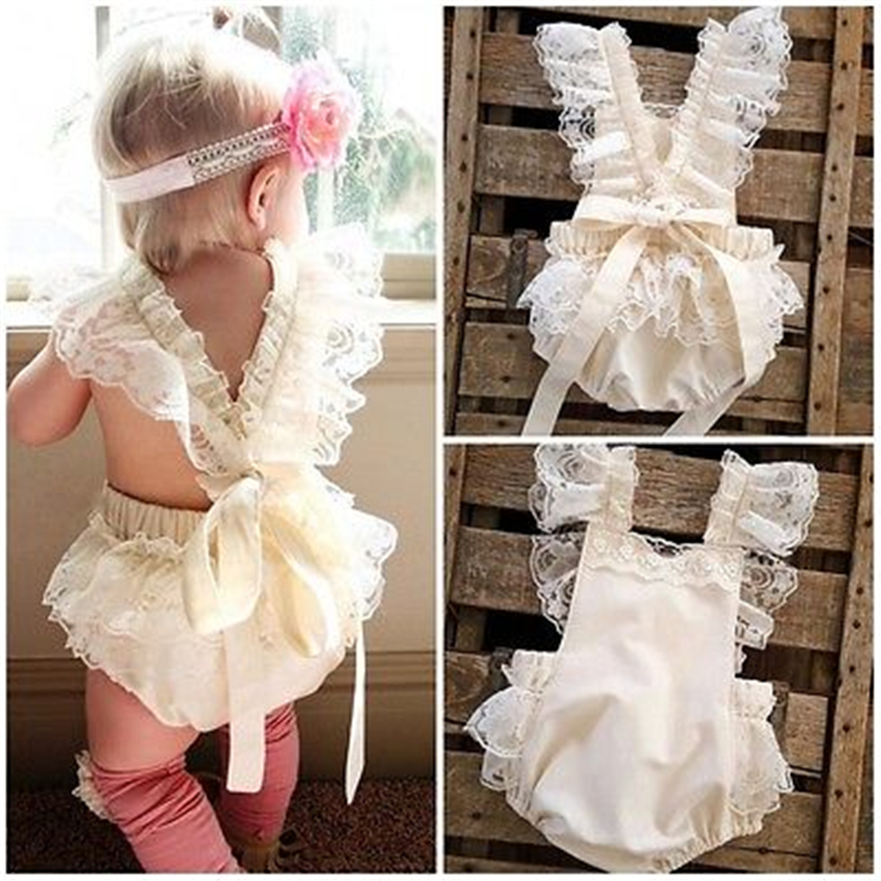CANIS 2019 New Kids Baby Girls Clothes Lace Ruffle   Romper   Jumpsuit Sunsuit Outfits A1