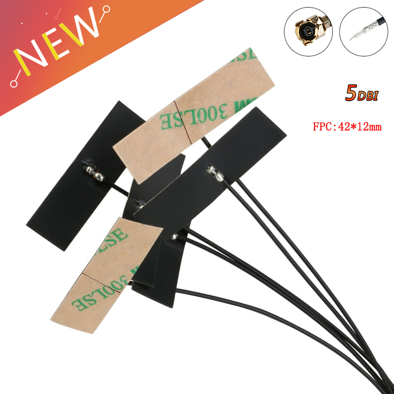5PCS WIFI Internal Antenna 5dBi IPX IPEX Connector FPC Omni Antenna IEEE 802.11 B/g/n WLAN System 2.4Ghz