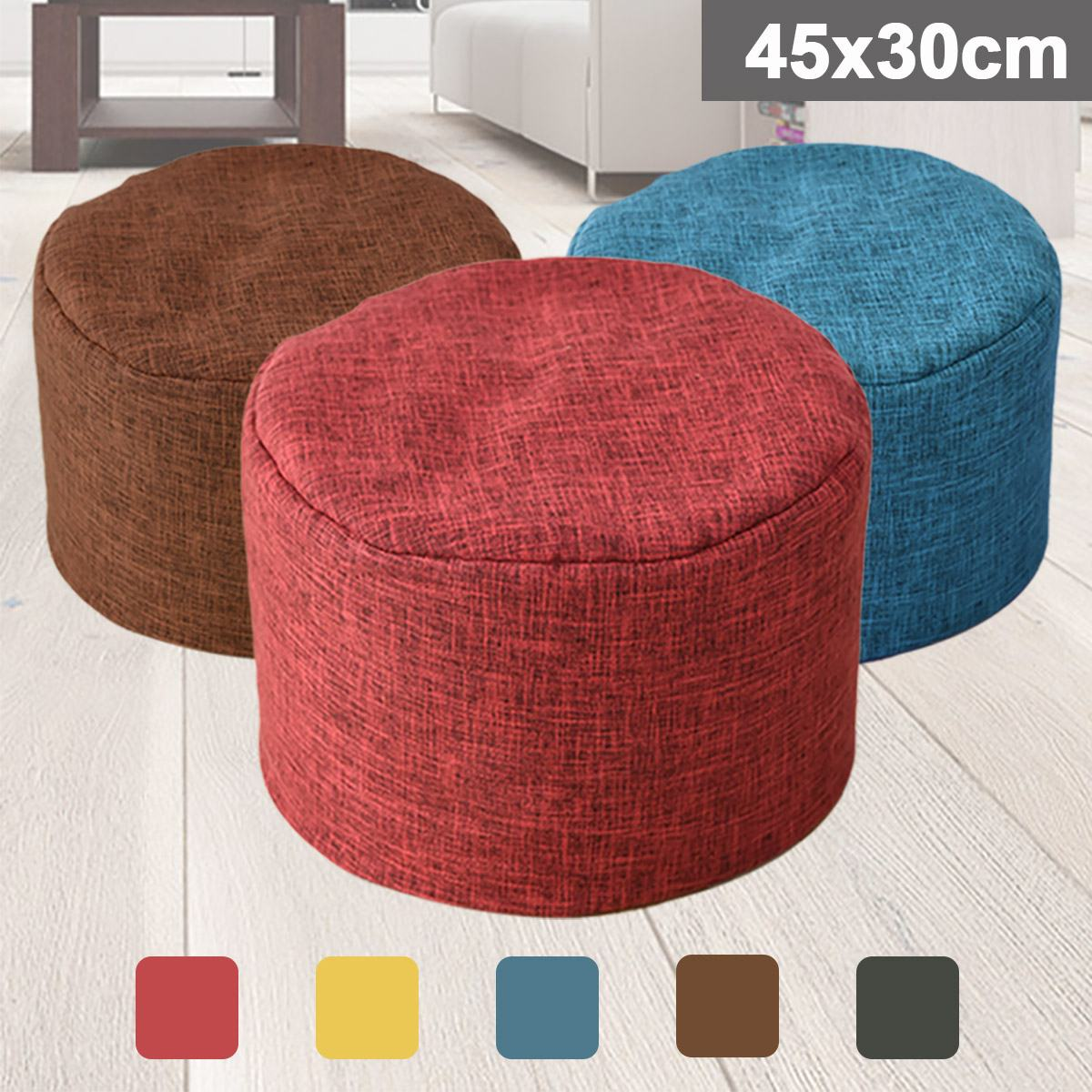 Lazy Sofa Waterproof Stuffed Animal Storage Toy Bean Bag Solid Color Oxford Chair Cover Large Beanbag(filling Is Not Included)