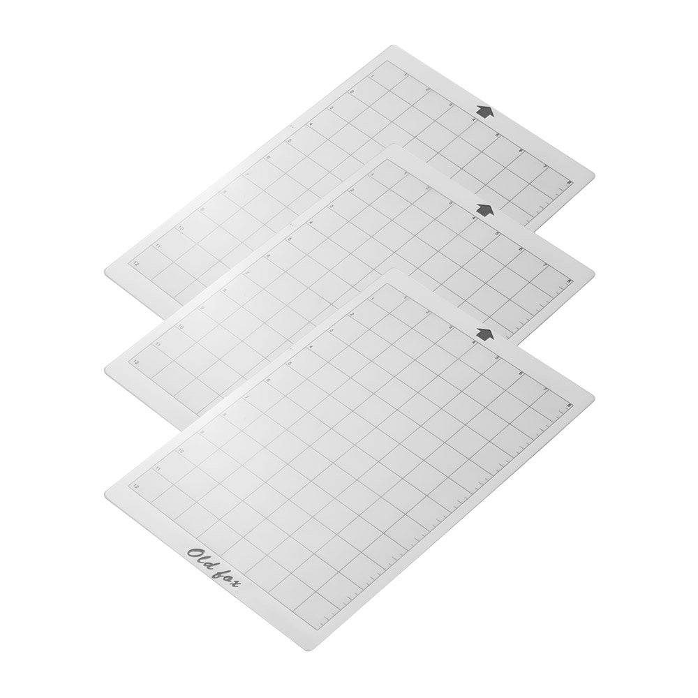 3pcs Replacement Cutting Mat Adhesive Mat with Measuring Grid 8 by 12-Inch for Silhouette Cameo Cricut Explore Plotter Machine cutting mat