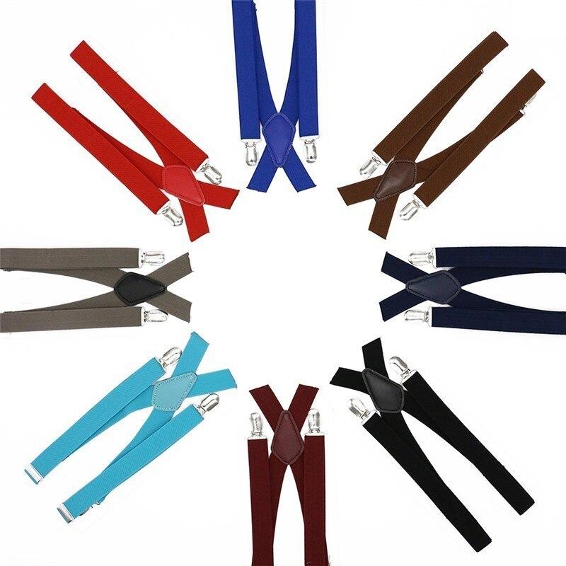Men 4 Clips Braces X-back High Elastic Business Men Gift Suspenders Men's Fashion Shirt Brace 2cm Width Casual Wear