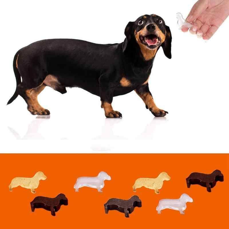 9 Grid Puppy Shape Ice Silicone Mold Hound Dachshund Dog Non