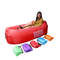 Outdoor Fast Infaltable Air Sofa Portable Couch Foldable Inflatable Bed Beach Sleeping Lounger Lay bag outdoor camping tools