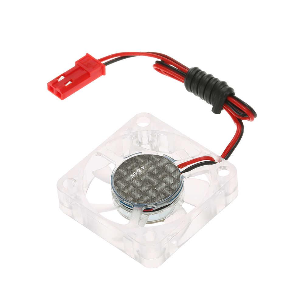 GoolRC Original 4,8-6 V ventilador de refrigeración con tornillos de conector de soporte para coche RC 550 3650 3670 3674 Motor