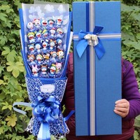 Lovely Cartoon Doraemon Figure Toys Doll Doraemon Cartoon Bouquet Gift Birthday Valentine's Day Gift No Box