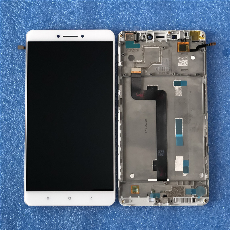 Original Axisinternational For 6 44 Xiaomi Mi MAX LCD Screen Display With Frame Touch Panel Digitizer