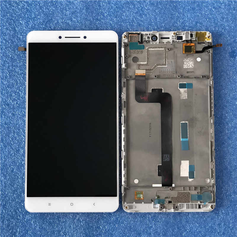 "Original Axisinternational For 6.44"" Xiaomi Mi MAX LCD Screen Display With Frame+Touch Panel Digitizer For MIMAX LCD Frame+Tools"