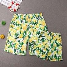 Lemon Leaf Summer Whole Family Matching Swimwear