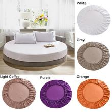 200cm 220cm Soft Bedspread Pure Cotton Mattress Cover Round Bed Cover Hotel Bed Protector Bedspread Mattress Bed Cover 5 Colors