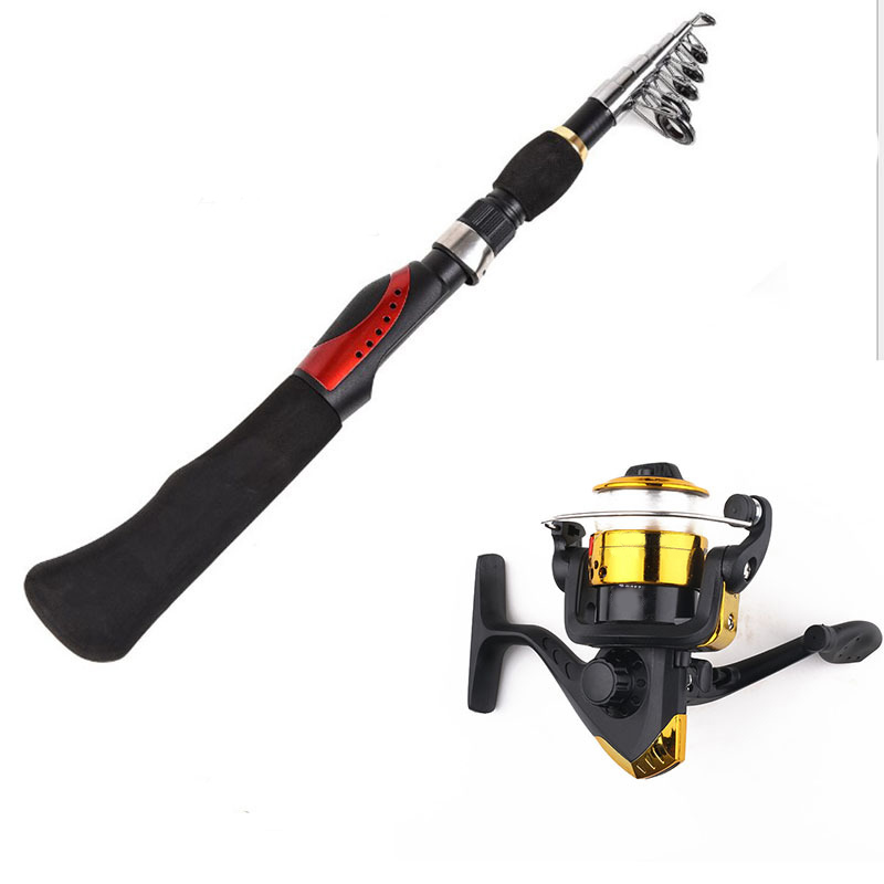 Image 5 - 1.6m Spinning Fishing Rod With BD2000 Reel Olta Carbon Portable Retractable Fishing Rod Combo Fishing Pole Fishing Tackle-in Fishing Rods from Sports & Entertainment