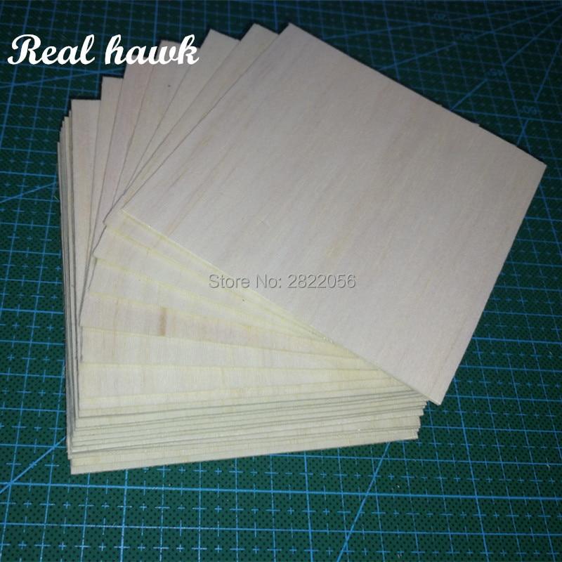 100x100x0.75mm  AAA+ Balsa Wood Sheets Model Balsa Wood For DIY RC Model Wooden Plane Boat Material