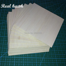 100x100x0.75mm  AAA+ Balsa Wood Sheets Model for DIY RC model wooden plane boat material