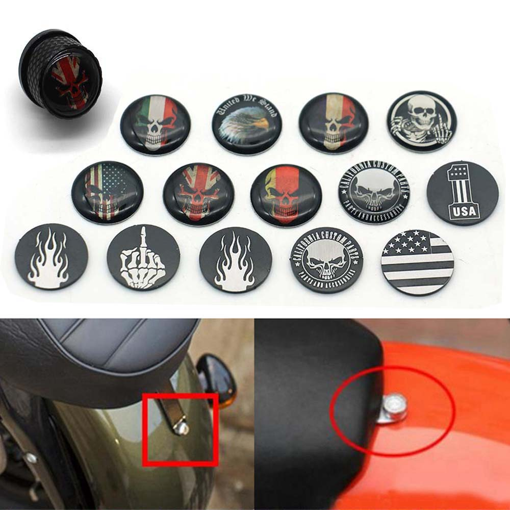 PBYMT CNC Black Rear Fender Seat Bolt Kit Tab Screw Mount Knob Cover Compatible for Harley Touring Softail Dyna Sportster 1997-2020