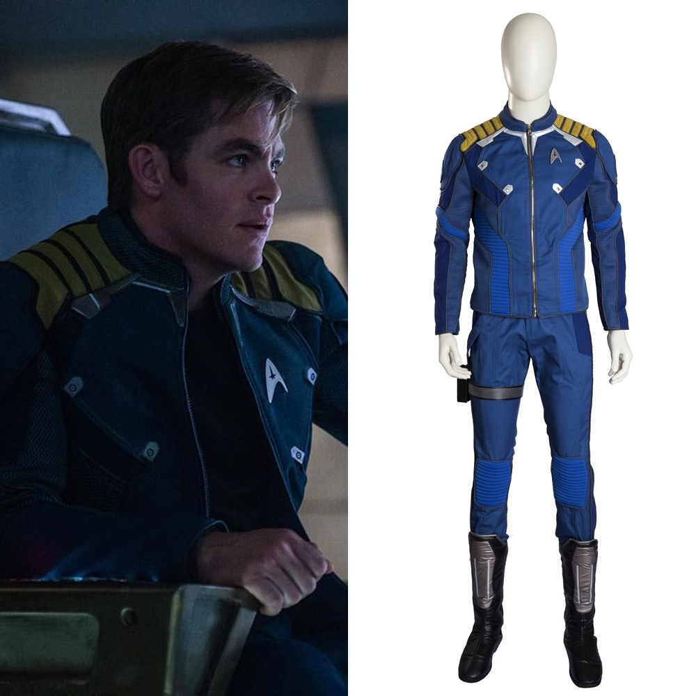 New Star Trek Beyond Captain James T Kirk Cosplay Costume Halloween Outfit