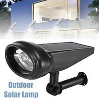 Solar Powered 4 LED Lawn Light Outdoor Waterproof Solar Panel Steet Light Road Wall Lamp Hallway Porch Fixture Outdoor Lighting