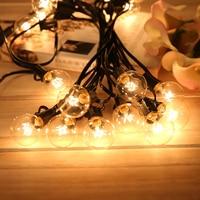 Tira de bombillas incandescentes de tungsteno E12, soporte Base de conexión para cadena, decoración del hogar, fiesta, 25 uds.
