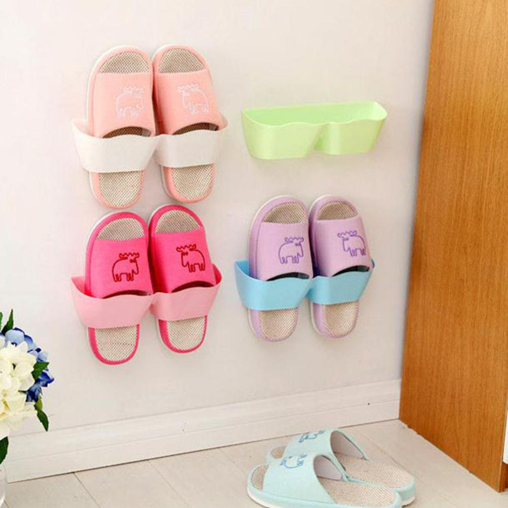 Three-Dimensional Super Glue Hanging Shoe Shelf Wave Style Wall Paste Shoe Rack