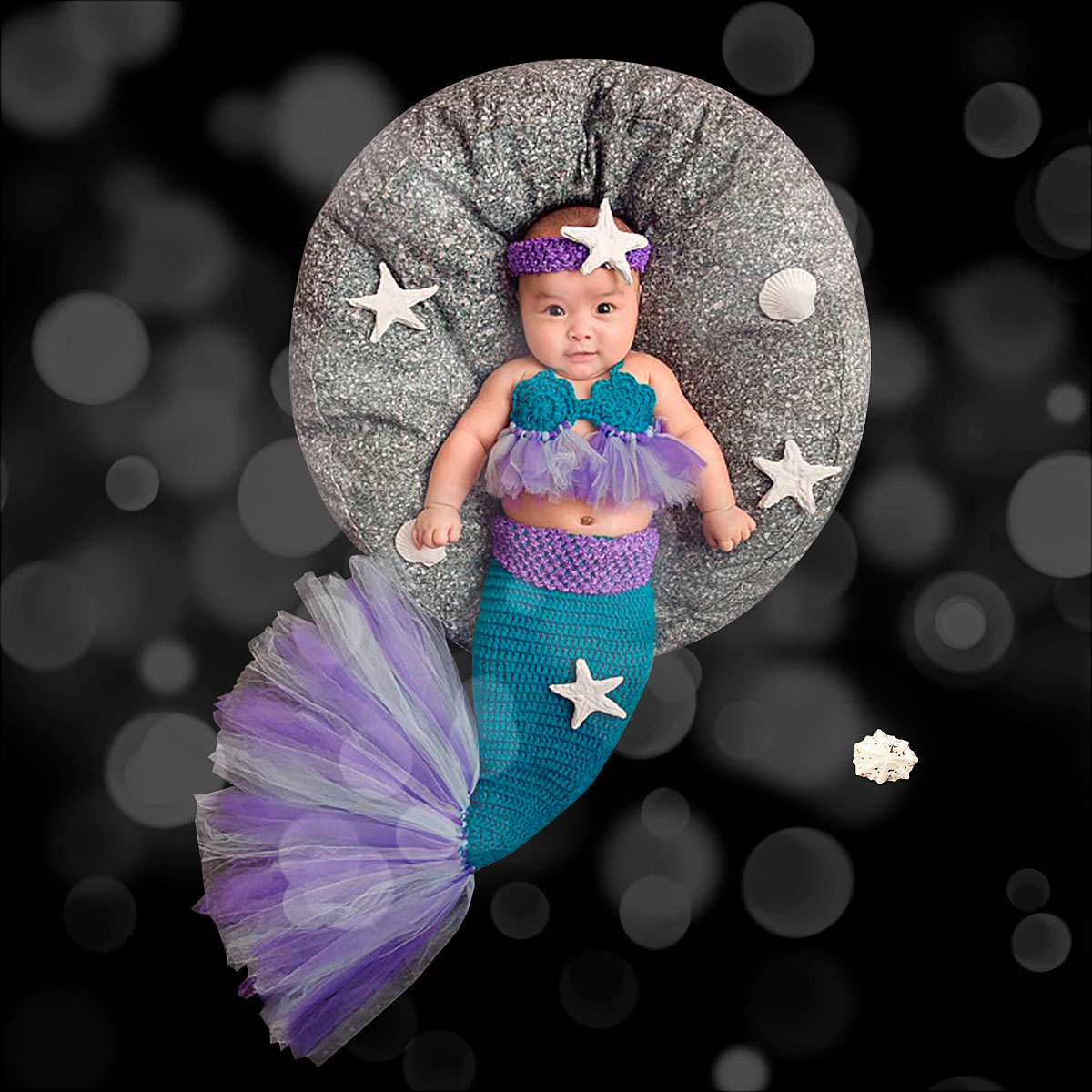 Baby Mermaid Tail Newborn...