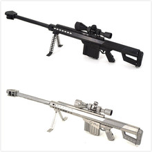 Barrett Sniper Rifle 3D Metal Puzzles Color Gun Model Kits Laser Cut Assemble Jigsaw Adult Gifts Toys Educational Collection(China)