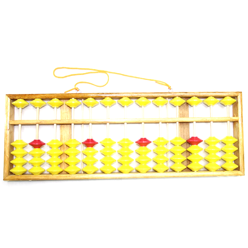 7 Column Hanging Wooden Abacus Soroban Educational Mathematics Wood Calculator