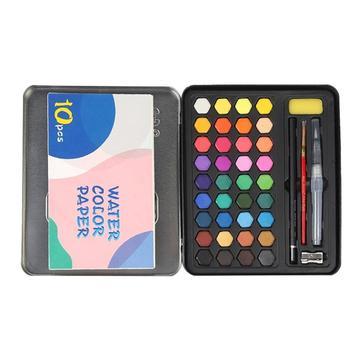 4f5c24fe06d3 36 Color sólido acuarela pintura de acrílico de hierro caja principiante  pintura dibujo arte pintura pinturas pintura y arte suministros
