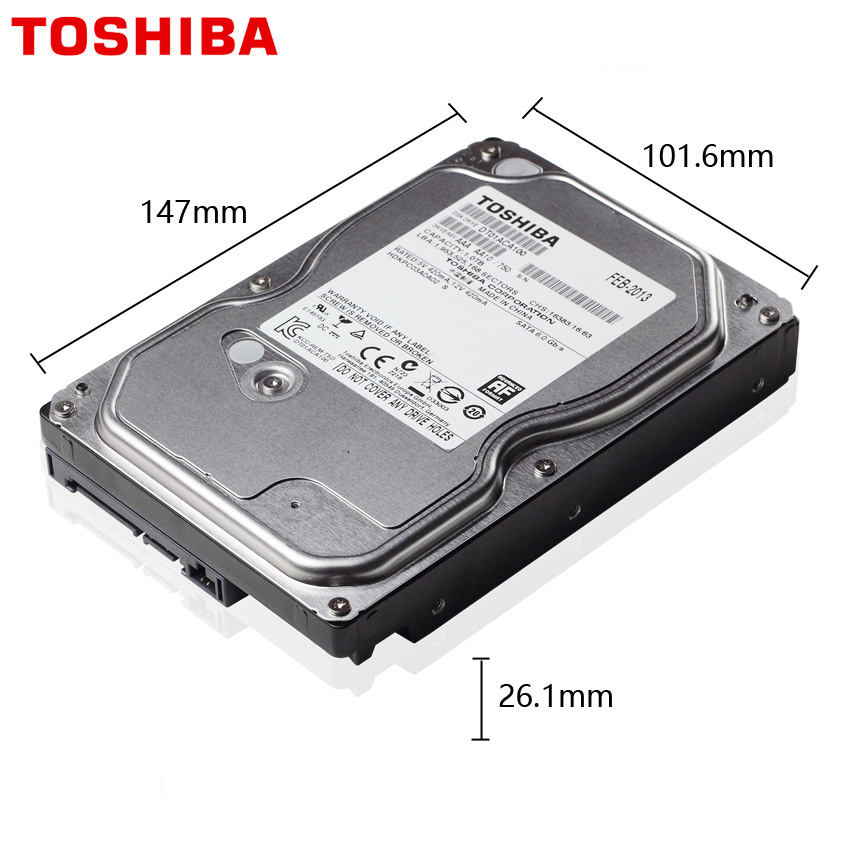 "TOSHIBA 500GB Video Surveillance Hard Drive Disk DVR NVR CCTV Monitor HDD HD Internal SATA III 6Gb/s 5700RPM 32MB 3.5"" harddisk 2"