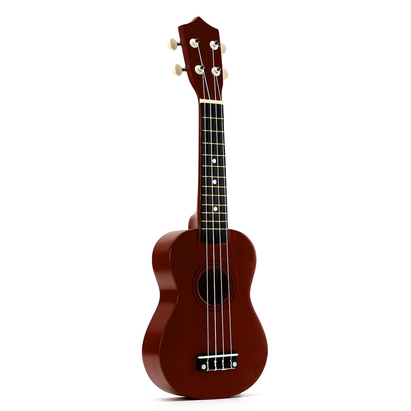 FSTE-21 Inch Soprano Ukulele 4 Strings Hawaiian Guitar Uke + String + Pick For Beginners Kid Gift