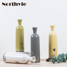 Vintage ceramic vase  for home decoration porcelain vases flowers wedding flower bottle