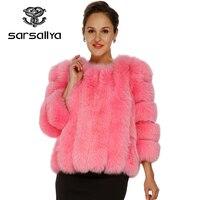 2016 new real fox fur coat mink coats women Free shipping natural fur coats winter jacket women