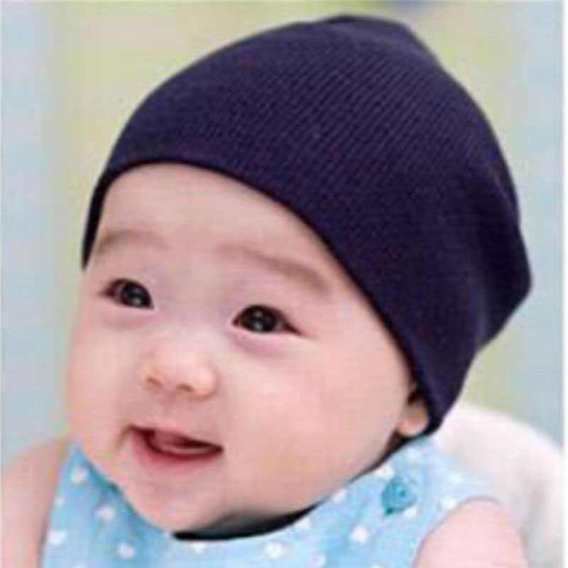 100/% Cotton Newborn Baby Boys Girls Winter Double Layer Plain Beanie Hat Cap
