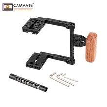 CAMVATE מצלמה כלוב מהיר שחרור חצי כלוב עם עץ ידית (ימין) עבור DSLR מצלמה יציב מערכת צילום Accessories2020