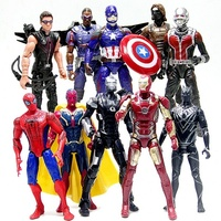 Pay Tribute The Avengers Figure Figma10 Pieces 16 18 Cm PVC Captain Iron Man Spider Man Ants Hawkeye Movie Action Character Toys