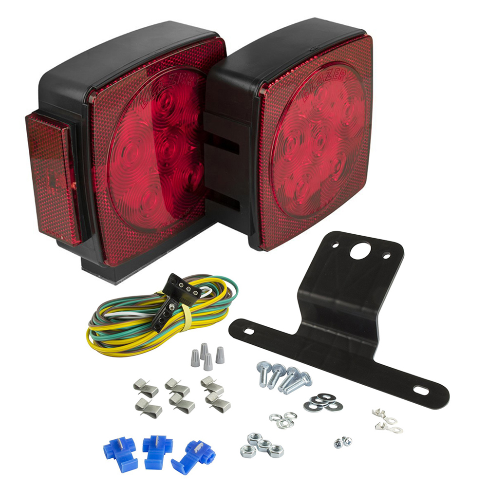 Durable Pair of Submersible LED Trailer Light Kit for Trailers Under 80 Inches Wide