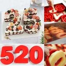 Десерт Силиконовые цифровые формы торт в форме цифр десерт украшение инструмент для свадьбы День рождения Юбилей ручной работы