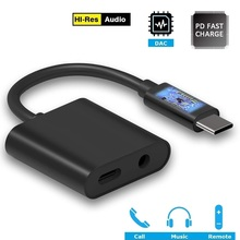 2 in 1 USB C 3.5 millimetri Adattatore di Tipo C a 3.5 millimetri Adattatore PD3.0 di Ricarica per Google Essenziale Huawei u11 S8 S9 HTC Macbook Chrom G6 V20