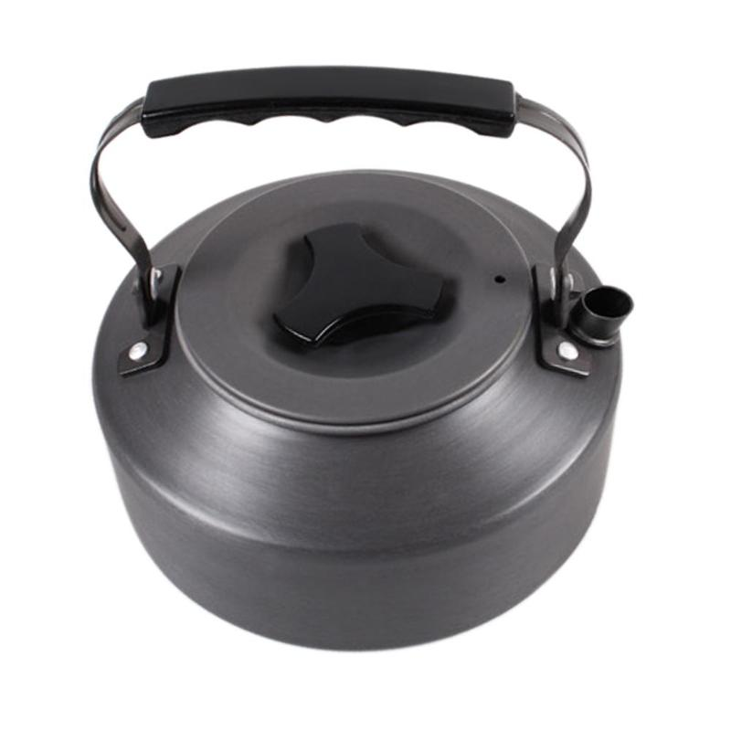 1.1L Portable Ultra-light Outdoor Hiking Camping Survival Water Kettle Teapot Coffee Pot Anodised Aluminum High Quality Kettle