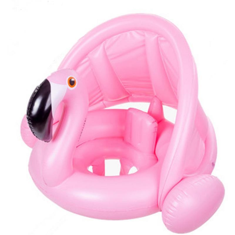 Summer Baby Kids Inflatable Ring For Swimming Seat Float Inflatable Rose Gold Flamingo Pool Float White Swan Swimming Pool Toys