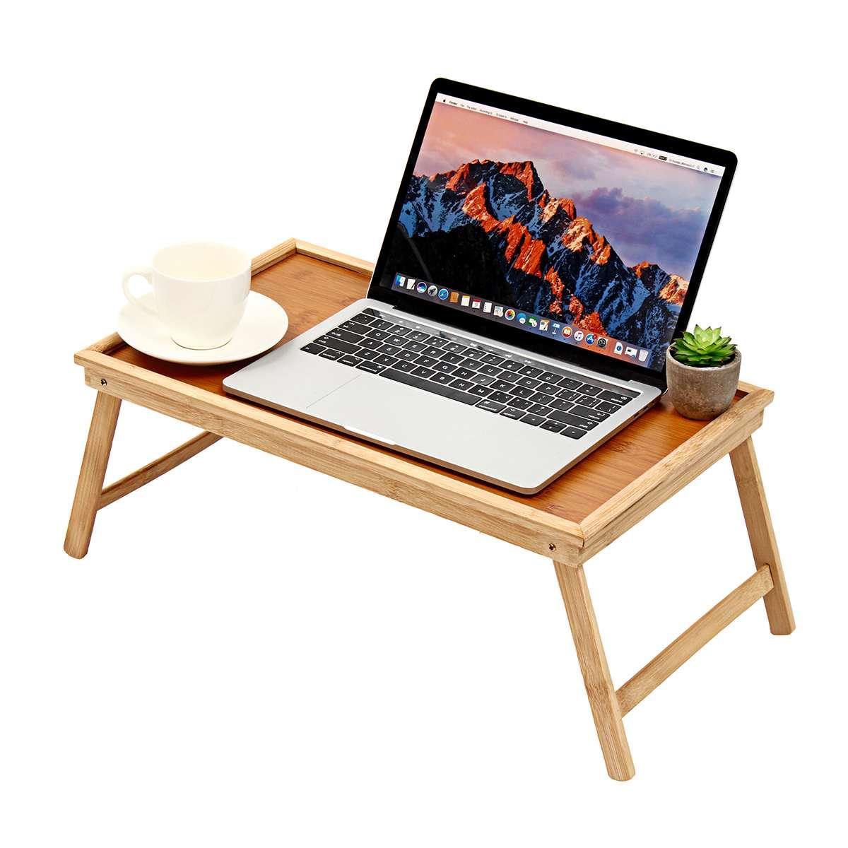 Portable 20 ''bambou bureau d'ordinateur Portable plateau de service ordinateur Portable porte-table ordinateur bureaux étudiant maison bureau meubles pliable